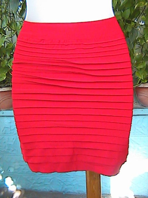 Other Seamless Stretch Fitted Pencil Mini Skirt Red