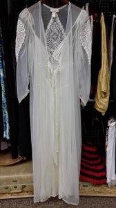 Vintage Peignoir Set Gown Set Bridal Size P Victoria Secret Made In Usa