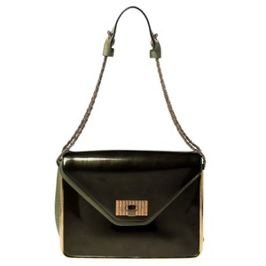 Chloé Leather Patent Leather Shoulder Bag