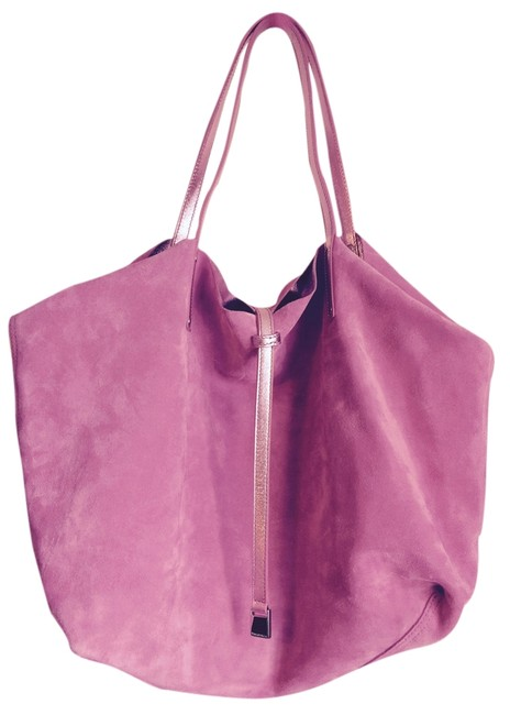 Item - Collection. Pink Suede/Matalic Fabric Tote