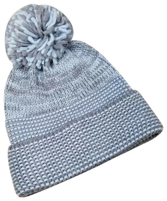 Item - Blue Built In Headphones Fringe Pompom Beanie Hat