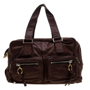 Chloé Leather Satchel in Brown