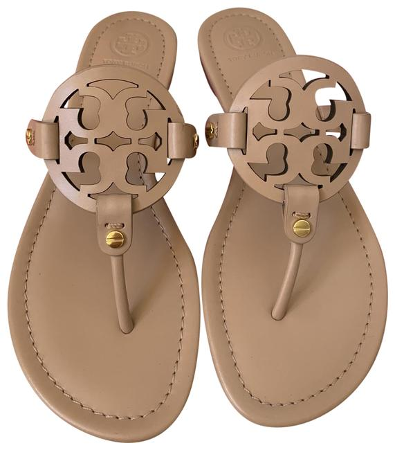 Item - Beige ( Light Makeup ) Miller Veg Leather Sandals Size US 10.5 Regular (M, B)