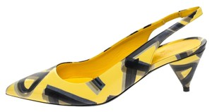Burberry Leather Slingback Yellow Sandals