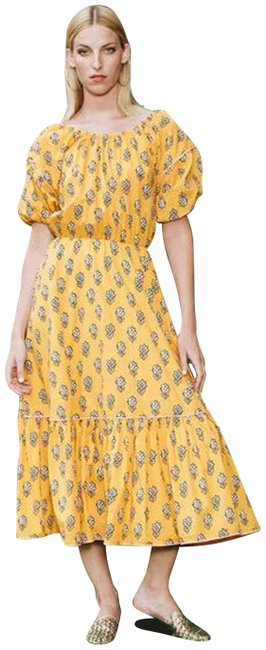 Item - Yellow XS Frida Off The Shoulder Midi Long Casual Maxi Dress Size 2 (XS)