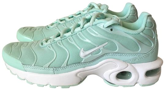 Nike White Mint Green Air Max Plus Tn Running Sneakers Size Us 6