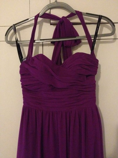 Alfred Angelo Violet Chiffon 7236 Formal Bridesmaid/Mob Dress Size 4 (S)