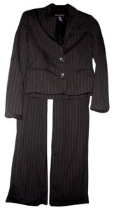 Banana Republic Banana Republic Modern Black Pinstripe Suit Pants & Jacket Size 0/2