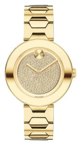 Movado Stainless Steel Bracelet Pave Crystal Womens 3600492