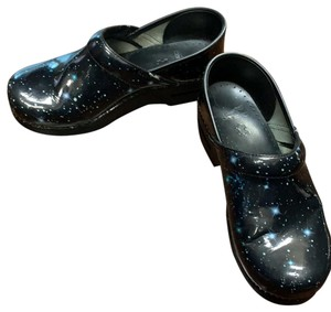 Dansko black, galaxy Mules