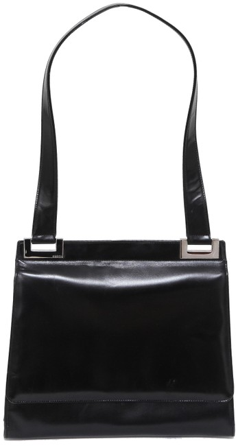 Item - Flap Silver Hw Single Strap Vintage Black Leather Shoulder Bag