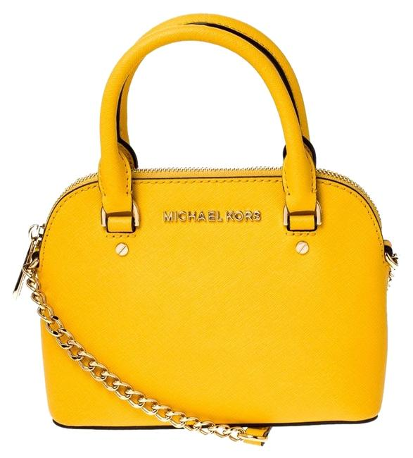 Item - Crossbody Mini Emmy Cindy Yellow Leather Shoulder Bag
