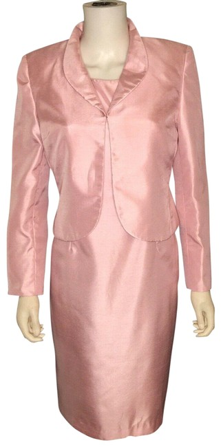 Item - Pink Sheath Dress Mother Of Bride Easter Skirt Suit Size Petite 8 (M)