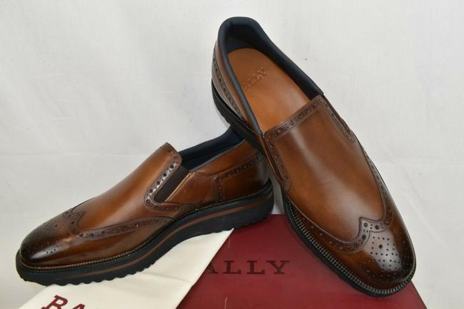 Item - Brown Stainy Brushed Calf Leather Wingtip Brogues Platform Loafers 11.5 D Shoes
