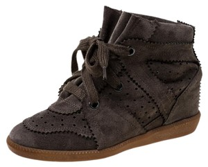 Isabel Marant Suede Leather Wedge Brown Athletic