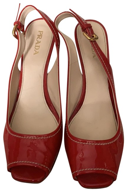 Item - Red Patent Wedges Size EU 39 (Approx. US 9) Regular (M, B)