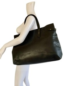 Tomas Maier Leather Tote in Black