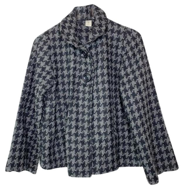 Item - Black Gray Herringbone Swing Cape Maternity Outerwear Size 8 (M)