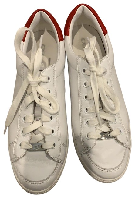 Item - White and Red Porter Sneakers Size US 8 Regular (M, B)