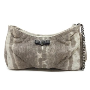 Christian Louboutin Wristlet in Cream and Grey