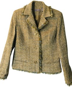 Kate Hill Green/Gold/Olive/teal Tweed Blazer