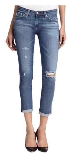 Item - Blue Distressed Stilt Cigarette Rollup Skinny Jeans Size 0 (XS, 25)
