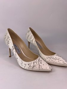 Jimmy Choo Ivory Stiletto Heel Pumps Size US 8.5 Regular (M, B)