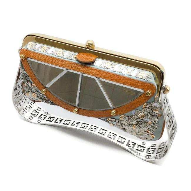 Item - Limited Edition Sequin and Metal Sculpted Handle Multicolor Satin Baguette