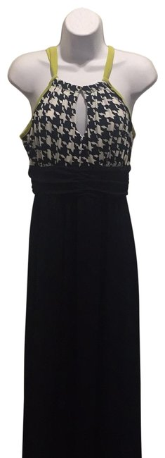 Item - Navy Blue with White On Top Long Cocktail Dress Size 8 (M)