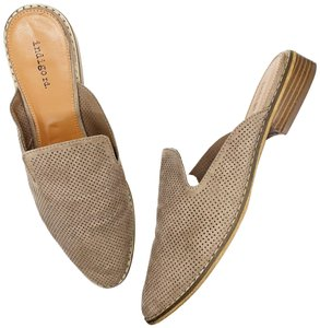 Marc Fisher taupe Mules