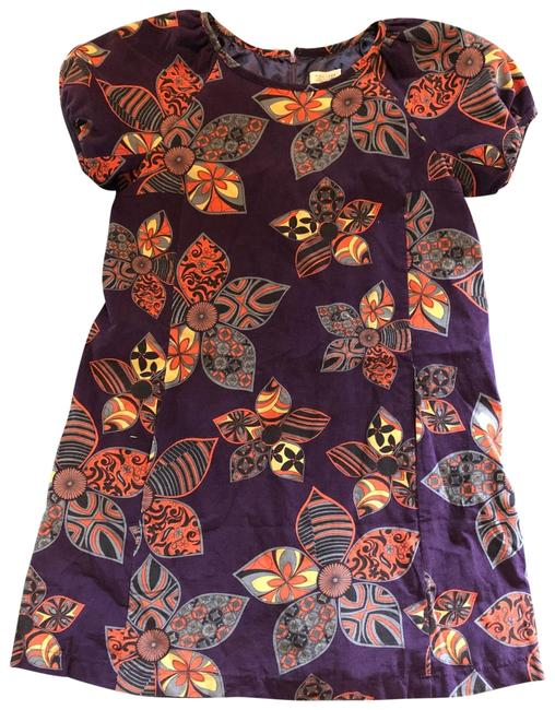 Item - Purple Puffy Sleeves Short Casual Dress Size 12 (L)
