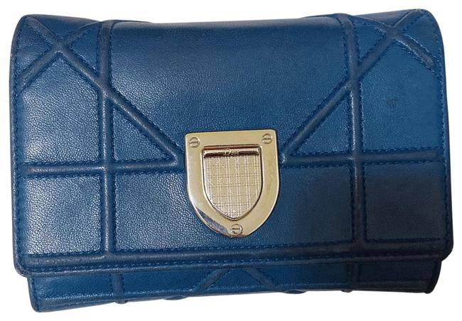 Item - ama Wallet Navy Leather Clutch