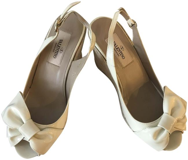 Item - Off White Patent Leather Espadrilles Wedges Size EU 35 (Approx. US 5) Regular (M, B)