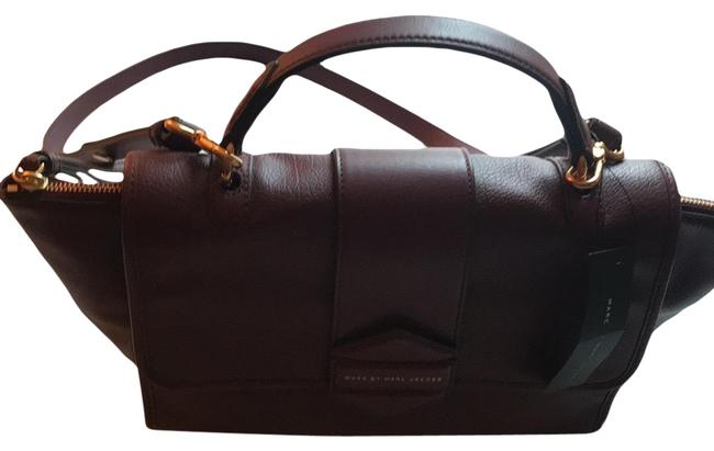 Marc by Marc Jacobs Dark Wine Leather Satchel Marc by Marc Jacobs Dark Wine Leather Satchel Image 1