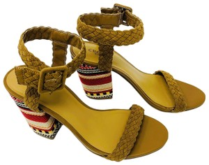 Crown Vintage Embroidered Braided Tan Sandals