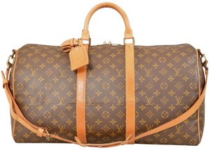 Louis Vuitton Duffle Gym Suitcase M41416 Shoulder Strap Brown Travel Bag