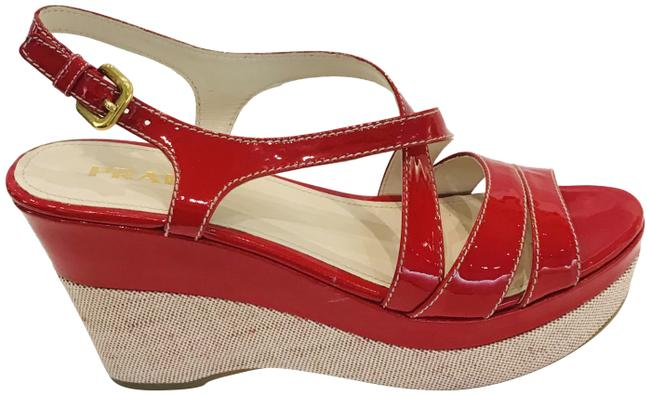 Item - Red Patent Wedges Size EU 38 (Approx. US 8) Regular (M, B)
