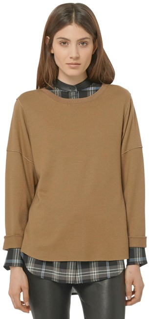 Item - Relaxed Roll Sleeve Camel Sweater