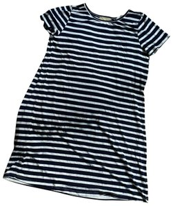 Everly short dress black white And Stripe Mini Made In Usa on Tradesy