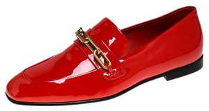 Burberry Patent Leather Chillcot Leather Red Flats