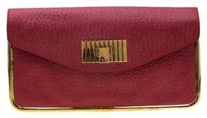 Chloé Leather Red Clutch