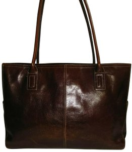 Fossil Tote in Whiskey Brown