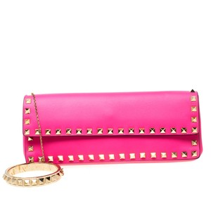 Valentino Leather Pink Clutch