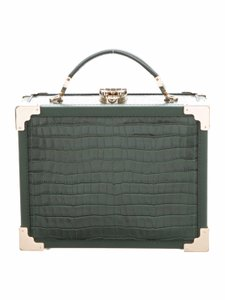 Aspinal of London Green Clutch