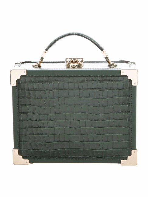 Item - Trunk Mini Green Leather Clutch
