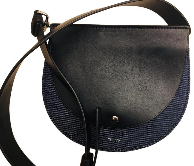Item - Fanny Pack Adjustable Belt New Leather/ Black and Blue Denim/ Leather Messenger Bag