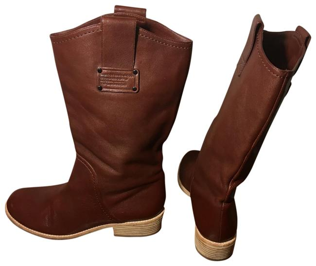 Item - Brown Beige Standard Supply Logo Calf Boots/Booties Size US 8.5 Regular (M, B)