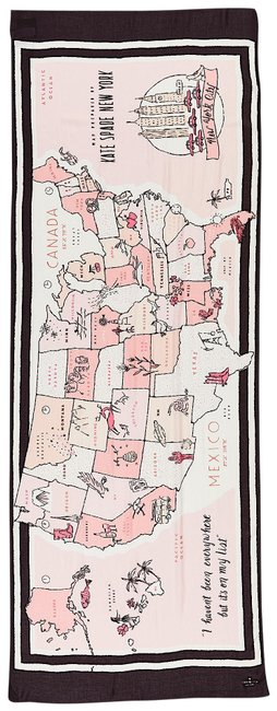 Item - Multi with Tag Usa Map Oblong Scarf/Wrap