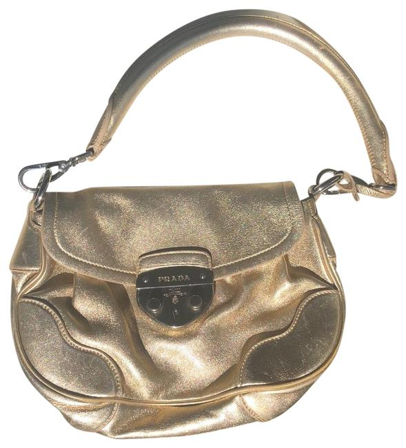 Item - Saffiano Gold Lambskin Leather Hobo Bag