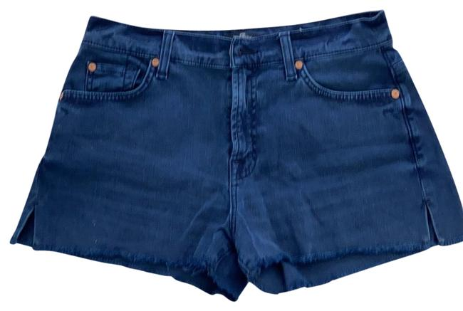 Item - Blue Dark Rinse Denim Shorts Size 6 (S, 28)